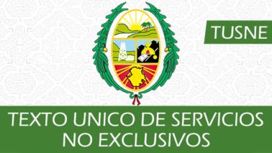 Photo of Texto Único de Servicios No Exclusivos (TUSNE)